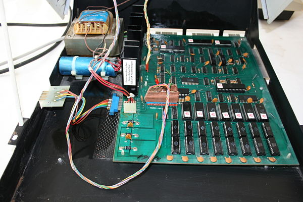 Interior del Commodore PET 2001